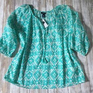 Gap turquoise green cotton tunic women's medium